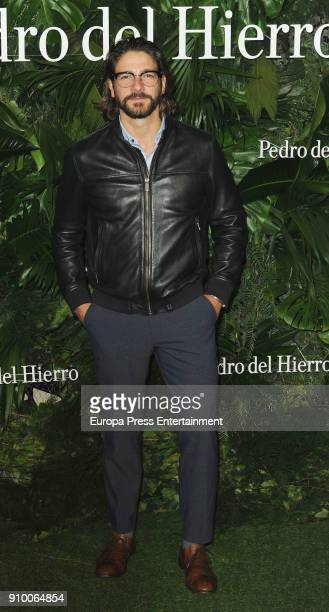 Felix Gomez attends the Pedro Del Hierro fashion show at the Museo del Ferrocarril during the Mercedes Benz Fashion Week Madrid Autumn/Winter 2018 on...