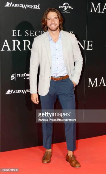Felix Gomez attends the premier of 'El Secreto de Marrowbone' at Capitol cinema on October 24 2017 in Madrid Spain