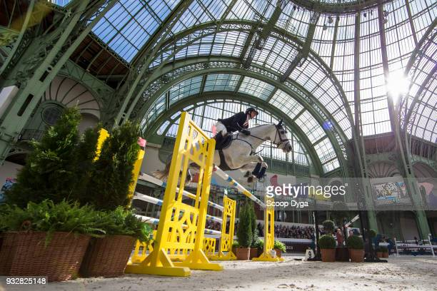 Felix HASSMANN riding Cayenne WZ competes in the Prix du Grand Palais CSI5* of Le Saut Hermes 2018 at Grand Palais on March 16 2018 in Paris France