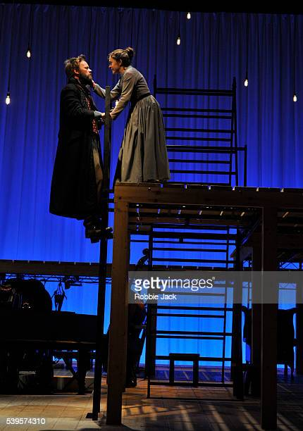 Felix Hayes as Rochester and Madeleine Worrall as Jane Eyre in an adaptation of Charlotte Bronte's Jane Eyre directed by Sally Cookson at the...