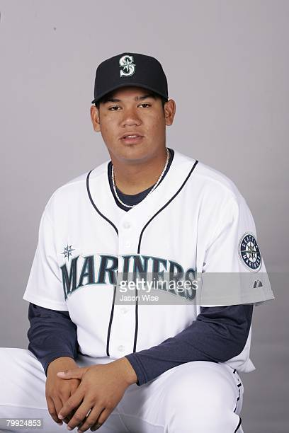 Felix Hernandez of the Seattle Mariners poses for a portrait during photo day at Peoria Sports Complex on February 21 2008 in Peoria Arizona
