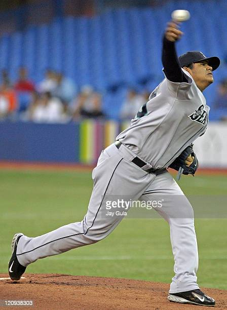 Felix Hernandez started for the Seattle Mariners at Rogers Centre in Toronto Canada on September 21 2005