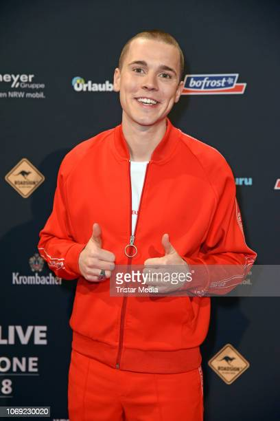 Felix Jaehn arrives at the 1Live Krone radio award red carpet at Jahrhunderthalle on December 6 2018 in Bochum Germany