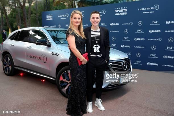 DJ Felix Jaehn arrives on the Red Carpet for the 2019 Laureus Sports Awards on February 18 2019 in Monaco Monaco