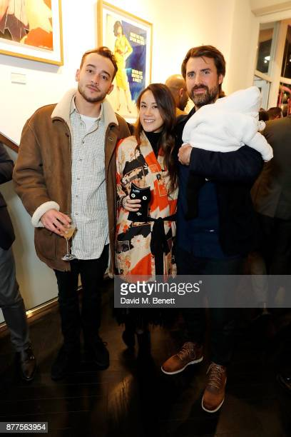Felix James Golding of The Connor Brothers and Alejandra Correa attend an intimate VIP private view for The Connor Brothers with catering by Michelin...