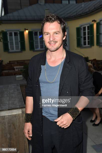 Felix Klare attends the UFA Fiction Reception during the Munich Film Festival 2016 at Cafe Reitschule on July 2 2018 in Munich Germany