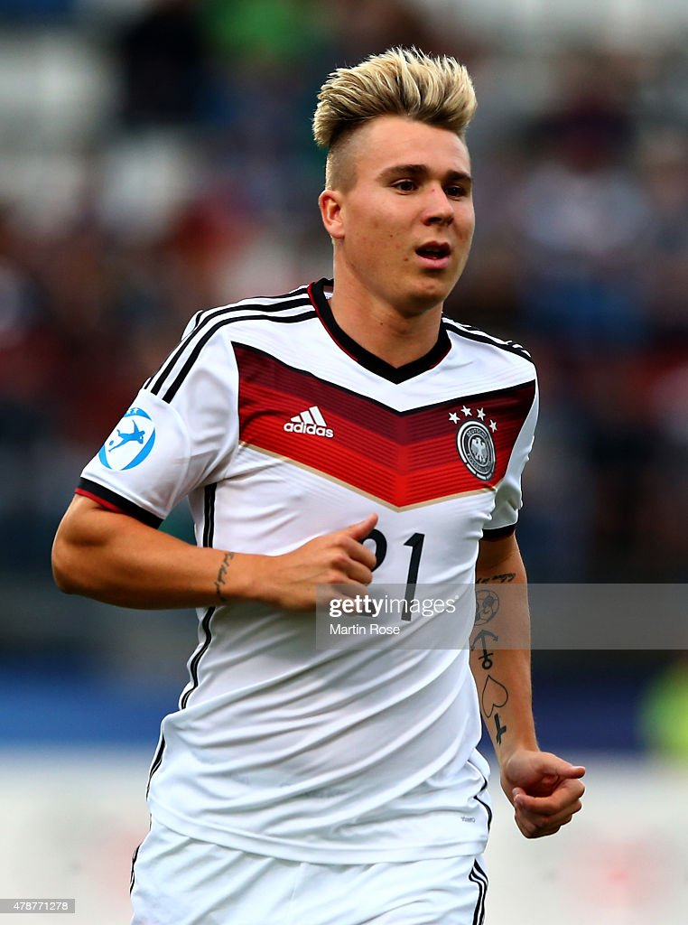 Felix Klaus of Germany runs during the UEFA European Under-21 semi final match Between Portugal and Germany at Ander Stadium on June 27, 2015 in Olomouc, Czech Republic.