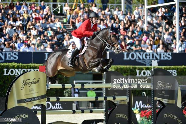 Felix Koller of Australia riding Captain Future 3 during Longines FEI Jumping Nations Cup Final Competition on October 7 2018 in Barcelona Spain