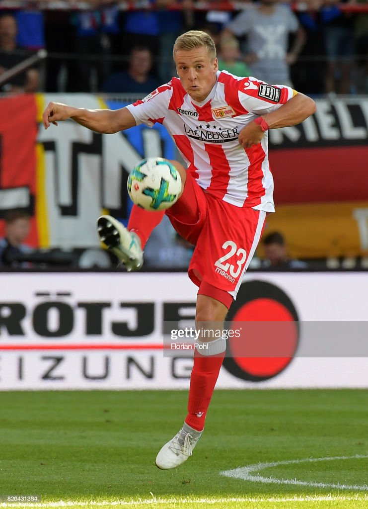 Felix Kroos of 1 FC Union Berlin during the game between Union Berlin and Kieler SV Holstein on august 4, 2017 in Berlin, Germany.