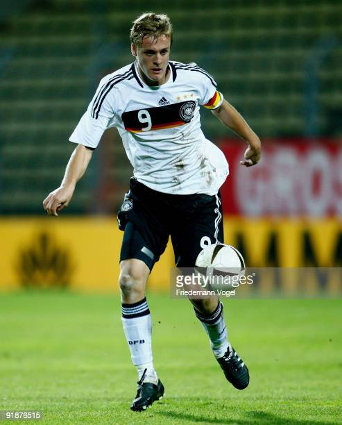 Felix Kroos of Germany in action during the U19 Euro Qualifier match between Turkey and Germany at the Stade Josy Barthel on October 12 2009 in...
