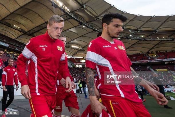 Felix Kroos of Union Berlin looks on during the Second Bundesliga match between VfB Stuttgart and 1 FC Union Berlin at MercedesBenz Arena on April 24...