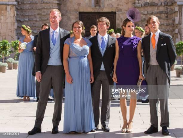 Felix Lademacher Princess Alexandra Of Luxembourg Prince Sebastien Of Luxembourg Princess Tessy Of Luxembourg and Prince Louis Of Luxembourg leave...