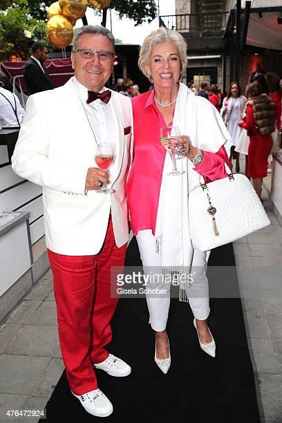 Felix Lautner Carmen Hirmer during the Fashion De Luxe Party presented by Joana Danciu Felix W at P1 on June 9 2015 in Munich Germany