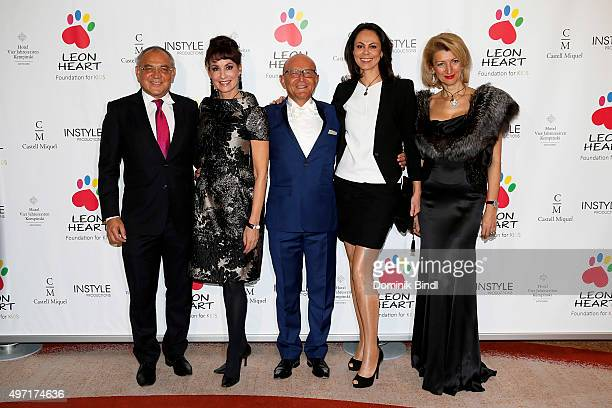 Felix Magath Anna Maria Kaufmann Michael Popp Natalia Klitschko and Leyla Namazova attend the charity dinner for Phytokids at Hotel Vier Jahreszeiten...