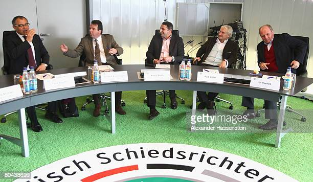 Felix Magath manager and head coach of Wolfsburg Heribert Bruchhagen CEO of Eintracht Frankfurt Klaus Allofs manager of Werder Bremen Rudi Voeller...