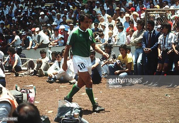 WM 1986 in Mexiko FINALE DEUTSCHLAND ARGENTINIEN 23 Felix MAGATH/GER