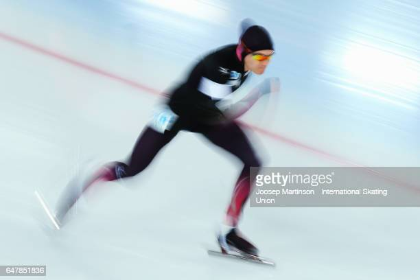 Felix Maly of Germany competes in the Men's 500m during World Allround Speed Skating Championships at Viking Skipet Hamar Olympic Hall on March 4...