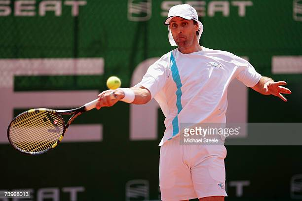 Felix Mantilla of Spain during his match against Carlos Moya of Spain during Day Three of the Open Seat 2007 at the Real Club de Tennis April 25 2007...
