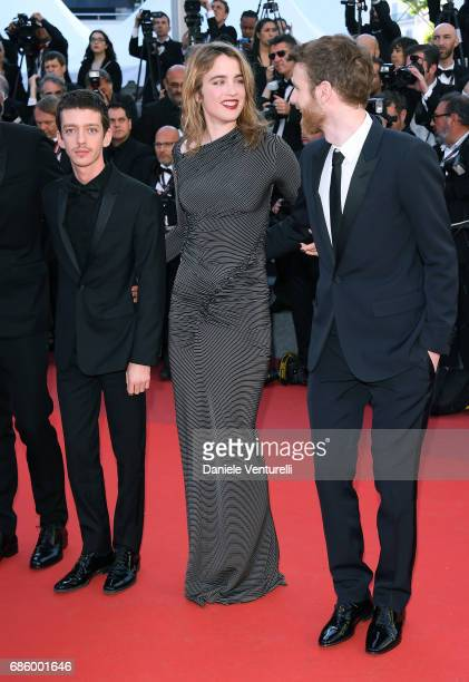 Felix Maritaud Adele Haenel and Antoine Reinartz attend the '120 Beats Per Minute ' screening during the 70th annual Cannes Film Festival at Palais...