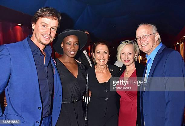 Felix Martin Aisata Blackman Daniela Ziegler Isabel Doerfler and Michael Kunze attend the Deutscher Musical Theater Preis 2016 on October 11 2016 in...