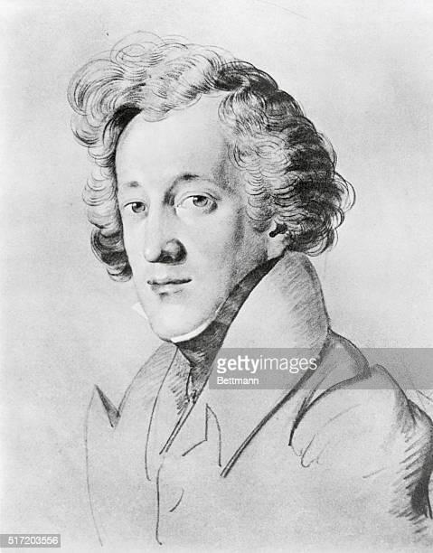 Felix MendelssohnBartholdy Drawing by Schmeller
