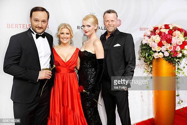 Felix Moese Jennifer Knaeble Mia BergmannBohlmann and Jenke von Wilmsdorff attend the Rosenball 2016 on April 30 2016 in Berlin Germany