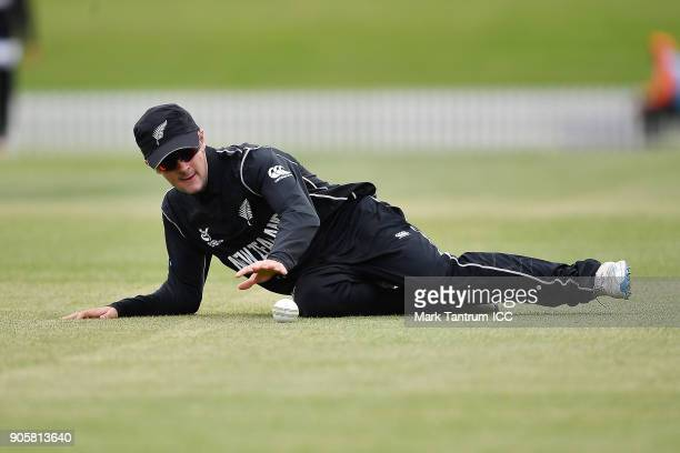Felix Murray of New Zealand during the ICC U19 Cricket World Cup match between New Zealand and Kenya at Hagley Oval on January 17 2018 in...