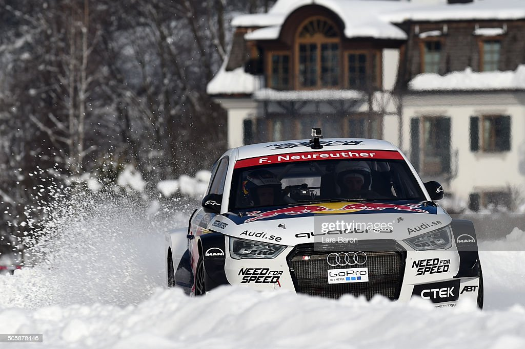 Felix Neureuther drives during the final day of the Audi Quattro #SuperQ on January 20, 2016 in Kitzbuehel, Austria.