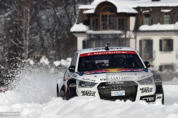 Felix Neureuther drives during the final day of the Audi Quattro #SuperQ on January 20 2016 in Kitzbuehel Austria