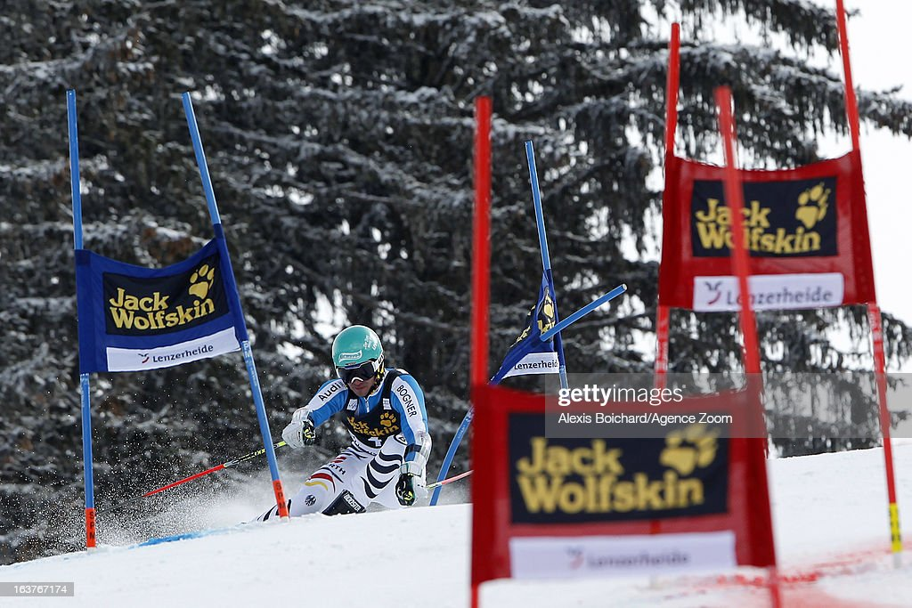 Felix Neureuther of Germany competes during the Audi FIS Alpine Ski World Cup Nation's Team event on March 15, 2013 in Lenzerheide, Switzerland.