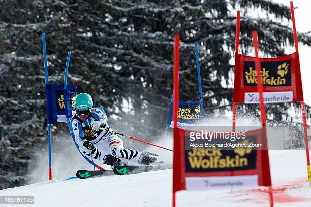Felix Neureuther of Germany competes during the Audi FIS Alpine Ski World Cup Nation's Team event on March 15 2013 in Lenzerheide Switzerland