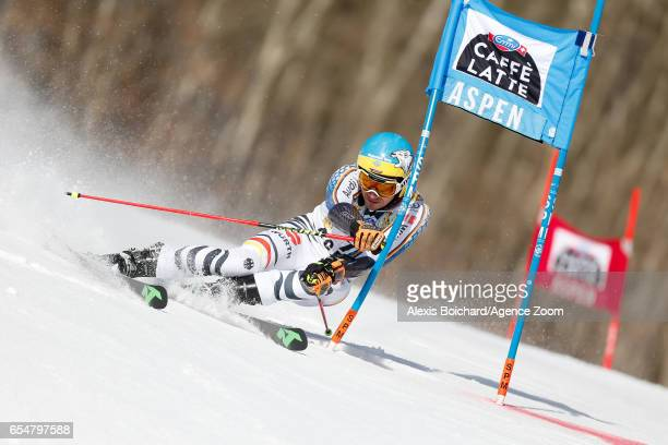 Felix Neureuther of Germany competes during the Audi FIS Alpine Ski World Cup Finals Women's Slalom and Men's Giant Slalom on March 18 2017 in Aspen...