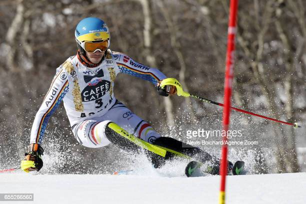 Felix Neureuther of Germany competes during the Audi FIS Alpine Ski World Cup Finals Women's Giant Slalom and Men's Slalom on March 19 2017 in Aspen...