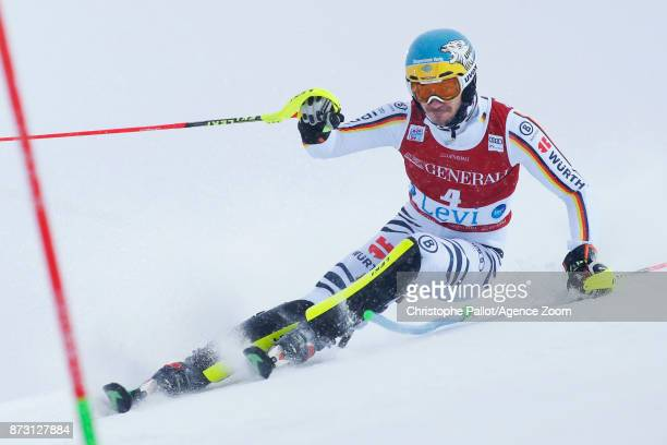 Felix Neureuther of Germany competes during the Audi FIS Alpine Ski World Cup Men's Slalom on November 12 2017 in Levi Finland