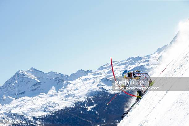 Felix Neureuther of Germany competes during the FIS Alpine Ski World Championships Men's Slalom on February 19 2017 in St Moritz Switzerland