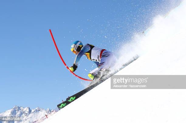 Felix Neureuther of Germany competes in the Men's Slalom during the FIS Alpine World Ski Championships on February 19 2017 in St Moritz Switzerland