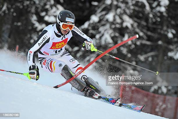 Felix Neureuther of Germany during the Audi FIS Alpine Ski World Cup Men's Slalom on December 19 2011 in Alta Badia Italy
