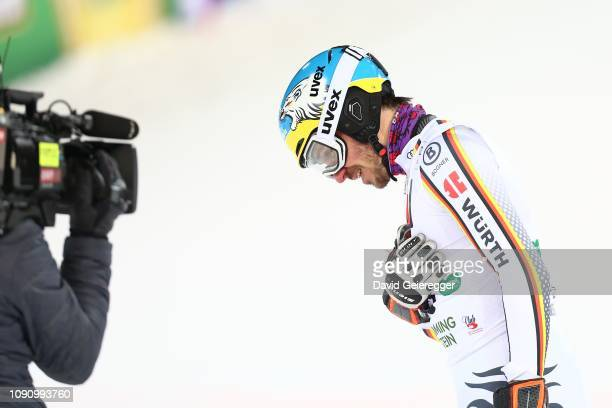 Felix Neureuther of Germany during the second run of the AUDI FIS Alpine Ski World Cup Men's Slalom competition on January 29 2019 in Schladming...