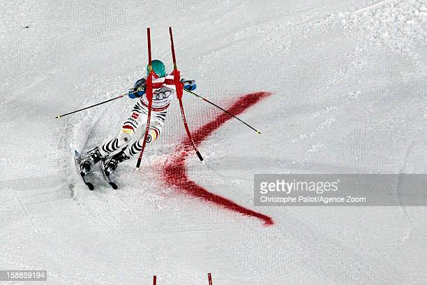 Felix Neureuther of Germany takes 1st place during the Audi FIS Alpine Ski World Cup Men's and Women's Parallel Slalom on January 1, 2013 in Munich,...