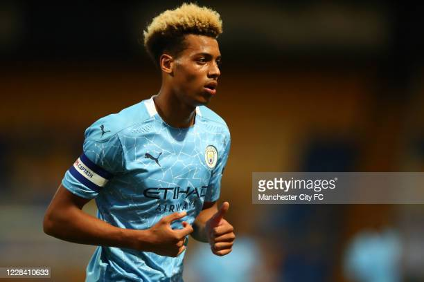 Felix Nmecha of Manchester City during the EFL Trophy match between Mansfield Town and Manchester City U21 at One Call Stadium on September 8, 2020...