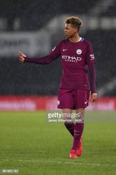 Felix Nmecha of Manchester City during the Premier League 2 match between Derby County and Manchester City on March 9 2018 in Derby England