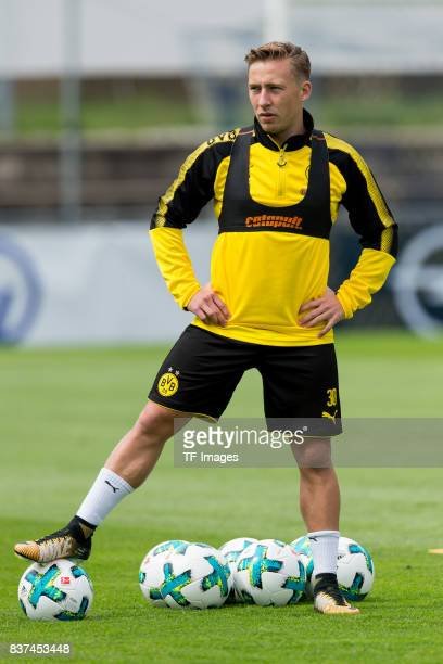 Felix Passlack of Dortmund looks on during a training session as part of the training camp on July 27 2017 in Bad Ragaz Switzerland