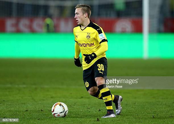 Felix Passlack of Dortmund runs with the ball during the friendly match between Borussia Dortmund and Sparta Prague at at Stadium Essen on January 19...