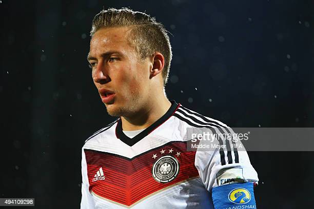 Felix Passlack of Germany looks on during the FIFA U17 World Cup Chile 2015 Group C match between Germany and Mexico at Estadio Fiscal on October 24...