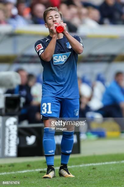 Felix Passlack of Hoffenheim looks on during the Bundesliga match between TSG 1899 Hoffenheim and Hertha BSC at Wirsol RheinNeckarArena on September...