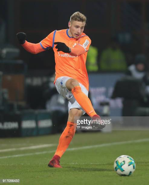 Felix Platte of Darmstadt controls the ball during the Second Bundesliga match between VfL Bochum 1848 and SV Darmstadt 98 at Vonovia Ruhrstadion on...