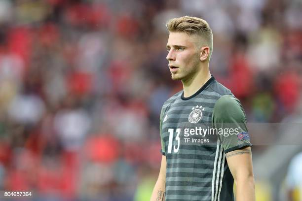 Felix Platte of Germany looks on during the UEFA European Under21 Championship Semi Final match between England and Germany at Tychy Stadium on June...