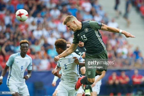 Felix Platte of Germany scores a goal during the UEFA European Under21 Championship Semi Final match between England and Germany at Tychy Stadium on...