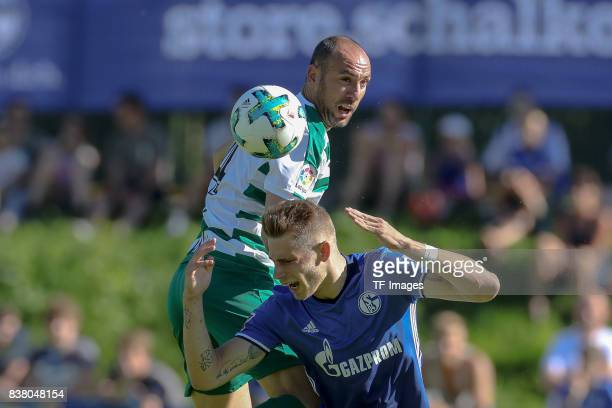 Felix Platte of Schalke and Ramis of Eibar battle for the ball during the preseason friendly match between FC Schalke 04 and SD Eibar on July 30 2017...