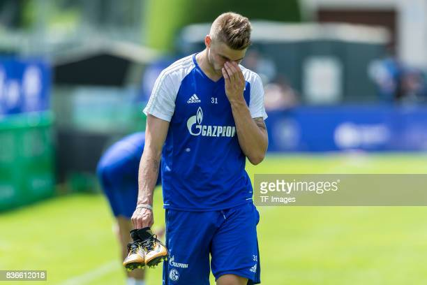 Felix Platte of Schalke looks on during the Training Camp of FC Schalke 04 on July 29 2017 in Mittersill Austria